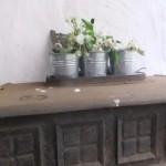 Blumentöpfe auf Ofen
