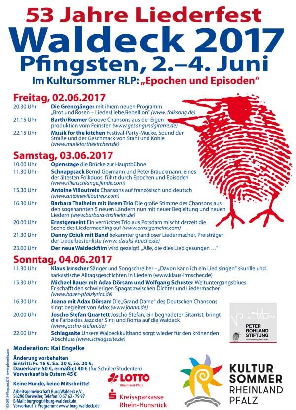Liederfest Waldeck Pfingsten 2017